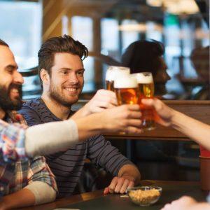 friends celebrating clean break approval